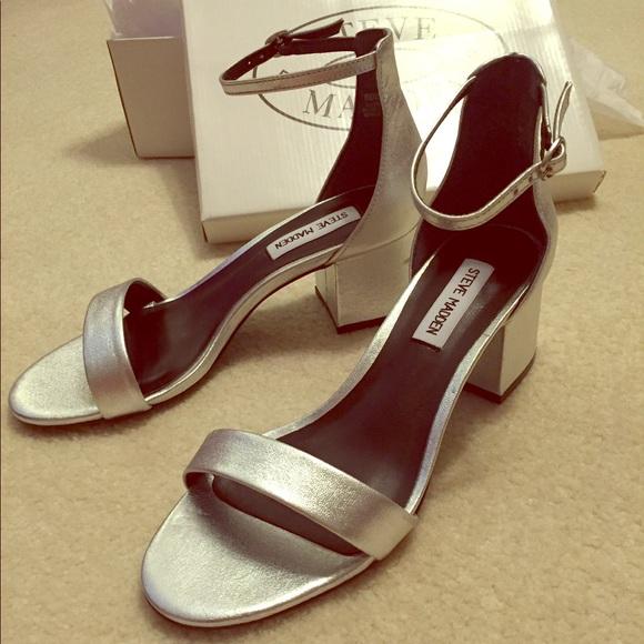 4705a165b1b Steve Madden silver low heel sandals NWT